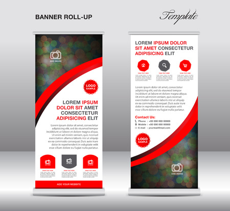 Green and Blue Roll up banner stand template, stand design,banner template,Green banner, advertisement