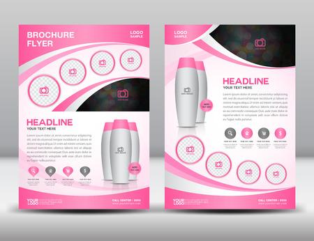 Rosa brochure aziendale modello di layout di progettazione volantino in formato A4 annunci dimensioni Magzine