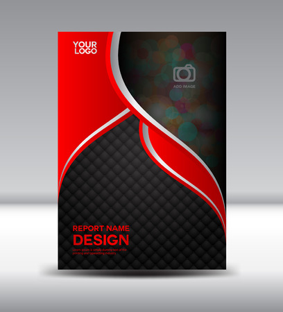 Red and black Cover design and Cover Annual report booklet flyer template vector illustration