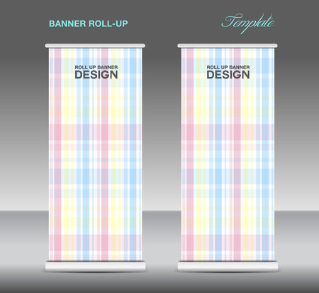 display stand: Roll up banner template vector, roll up stand, display, banner design, flyer, advertisement Illustration