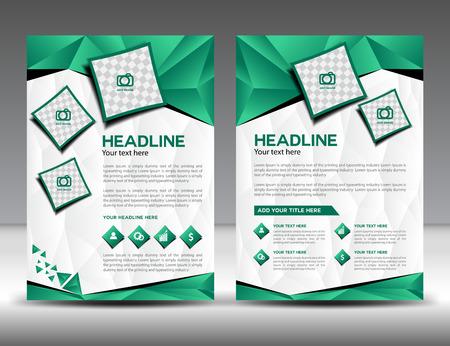 Set of green business brochure flyer design layout template in A4 size, newslettet, Leaflet, poster, flyer, layout vector, Catalog, Magazine ads