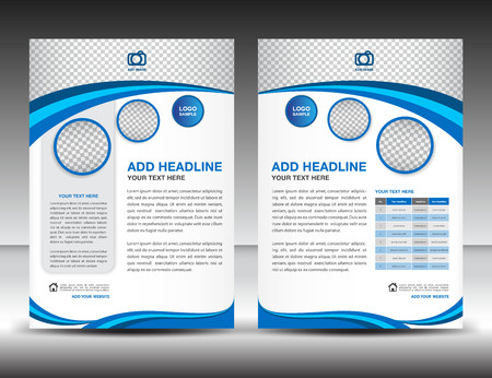 design layout template in A4 size, poster, leaflet,newsletter,catalog, cover, annual report, magazine ads, book Stock Illustratie
