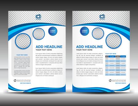ontwerp lay-out template in A4-formaat, poster, folder, nieuwsbrief, catalogus, dekking, jaarverslag, advertenties in tijdschriften, boeken Stock Illustratie