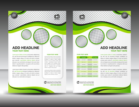 Green business brochure flyer design layout template in A4 size, poster, leaflet,ads,newsletter, cover, annual report, magazine ads, catalog,book