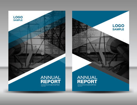 Blue Cover template, annual report, business brochure flyer, magazine covers, presentation