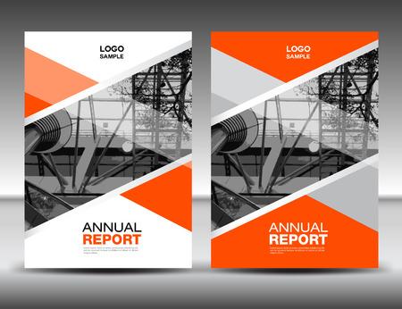 Orange Cover template, annual report, business brochure flyer, magazine covers, presentation Illustration