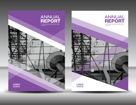 Purple Cover template, annual report, business brochure flyer, magazine covers, presentation