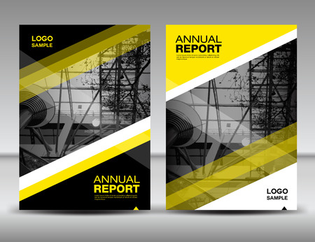 black yellow: Yellow and black Cover template, annual report, business brochure flyer, magazine covers, presentation