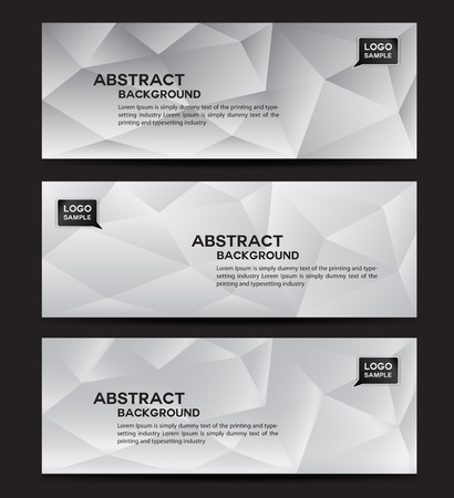 rollup: White banner design vector , polygon background, Abstract background, corporate business banner template, flyer design Illustration