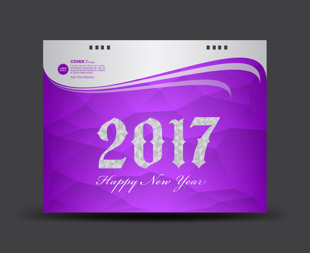 cover desk calendar 2017 happy new year 2017 book cover template