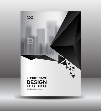 Black And White Flyer Template | Cover Design Annual Report Vector Illustration Business Brochure