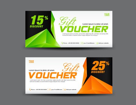 Green Gift Voucher Coupon Design Ticket Banner Discount – Discount Voucher Design