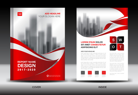 Brochure Template Layout Red Cover Design Annual Report Magazine