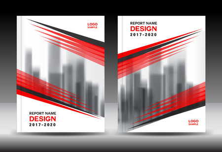 Red cover design, Annual report template, business brochure flyer, company profile in a4