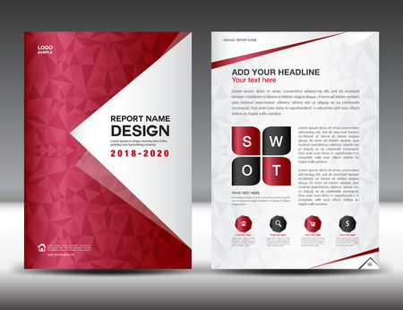 Business brochure flyer template in a4 size red cover design business brochure flyer template in a4 size red cover design annual report magazine fbccfo Images