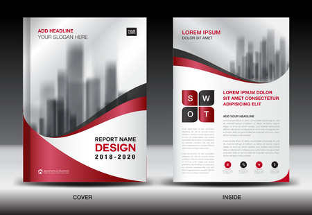 size: Business Brochure flyer templater, Red cover design, annual report, Book, Magazine ads, company Profile, layout in A4 size, poster, catalog, leaflet, newsletter, Advertisement, presentation, infographics Illustration
