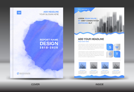 Annual Report Brochure Flyer Template Purple Cover Design Business