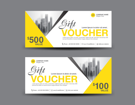 Yellow gift voucher template layout business flyer design polygon vector yellow gift voucher template layout business flyer design polygon background coupon ticket discount card banner vector illustration reheart Image collections