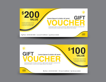 Yellow gift voucher template layout business flyer design abstract yellow gift voucher template layout business flyer design abstract background coupon ticket cheaphphosting Gallery