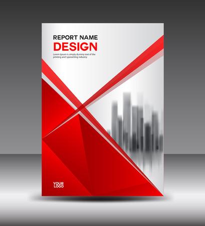 赤と白のカバー デザインのアニュアル レポート ベクトル図、小冊子、ポスター、アニュアル レポート テンプレート、a4 サイズ、ポリゴン背景レイ  イラスト・ベクター素材