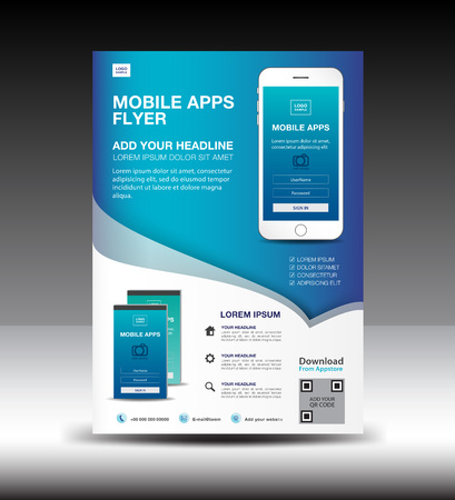 Mobiele Apps Flyer sjabloon.