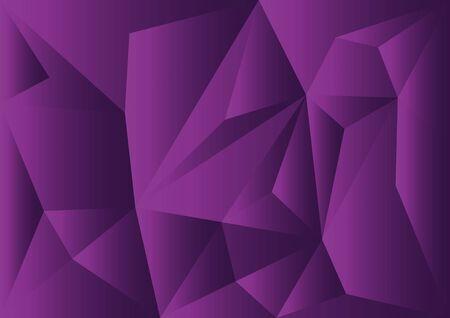 壁紙、カバー、ビジネス テンプレート、レイアウト、広告、印刷媒体の紫多角形の図。  イラスト・ベクター素材