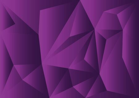 Purple polygonal illustration for wallpaper, cover, business template, layout, advertisement and print media.