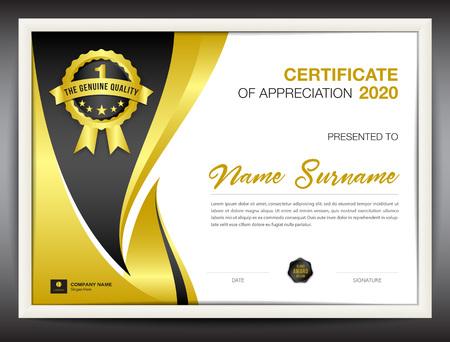 Certificate template. Vettoriali
