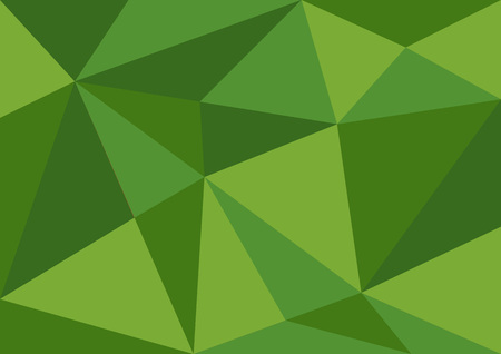 Green polygonal background, vector illustration, abstract texture, wallpaper, cover, Business flyer template, book layout, advertisement, print media Illustration