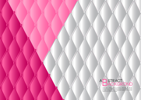 White and pink abstract background vector illustration, cover template layout, leather texture luxury can be used in annual report cover design, book, banner, web page, brochure, poster, card