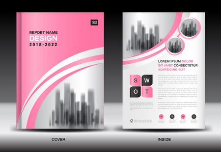 Jahresbericht-Cover-Design, Broschüre Flyer Vorlage, Business-Werbung, Firmenprofil, Anzeigen, Broschüre, Buch, Katalog, Infografiken Vektor-Layout in A4-Größe Vektorgrafik