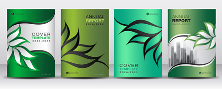 Green Cover design template vector, Nature organic leaves creative idea, Can be use to Business Brochure flyer, Annual Report, Magazine,Poster, Corporate Presentation, Portfolio, book, leaflet, Banner, company profile, newspaper, printing media, Website.