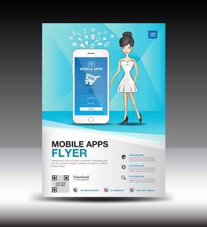 Mobile Apps Flyer template.