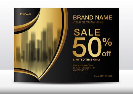 Sale Banner, Billboard, Brochure flyer for cosmetics, Banner design Template vector illustration