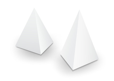 3d pyramid package, box, product design, Vector illustration.