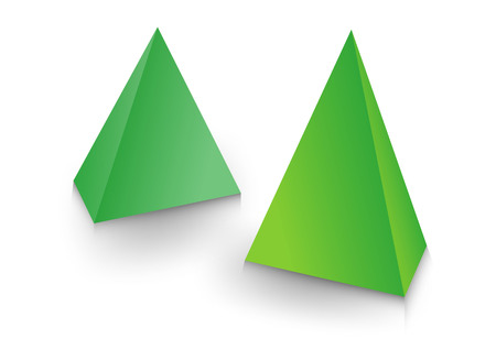 A 3d pyramid package, box, product design, Vector illustration. 일러스트
