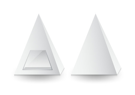A 3d pyramid package, box, product design, Vector illustration. Ilustracja