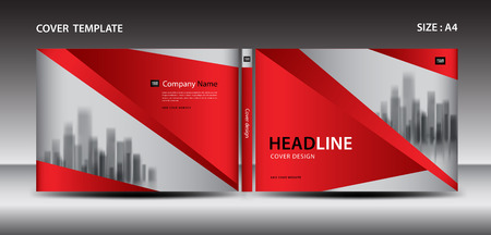 Red Cover design template for magazine, ads, presentation, annual report cover, book cover, leaflet, poster, catalog, printing
