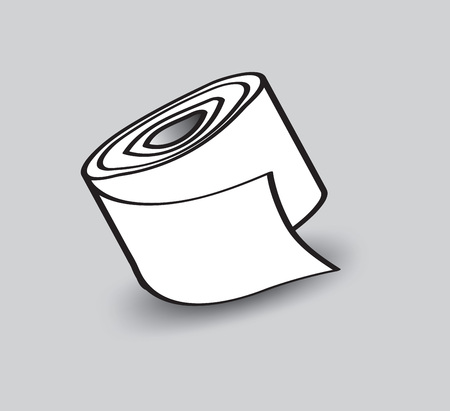Seidenpapier-Vektorillustration, Netzikone, weißes Papier, Zeichen