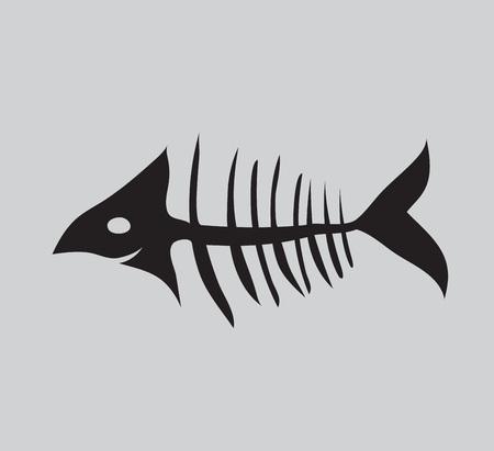 fishbone vector illustration, web icon, sign Vektorové ilustrace