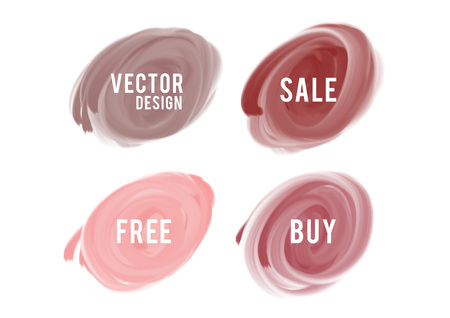 nude watercolor circle paint, Grunge circle, icon design, Hand drawn design elements, vector brush strokes, sale banner Stock Illustratie