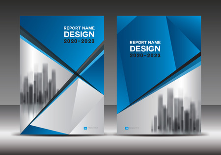 Blue Cover design template, Annual report vector illustration, book cover layout, booklet, poster, Business brochure flyer, advertisement, company profile, magazine ads, banner, polygon background
