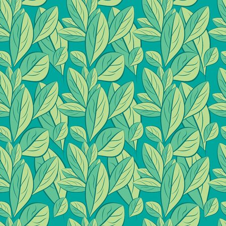 seamless spring pattern, leaf texture vector Background, Hand drawn