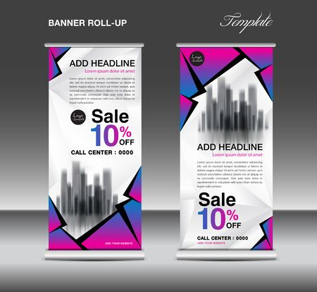 Sale Roll up banner template vector, advertisement, x-banner, poster, pull up design, display, layout, business flyer, sale web banner, exhibition, stand, presentation