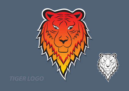 Tiger logo vector design, sign, animal icon vector illustration for corporate