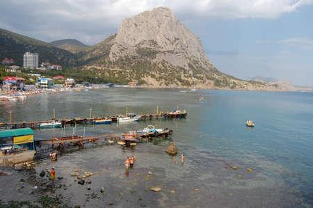 near: mountains near sea