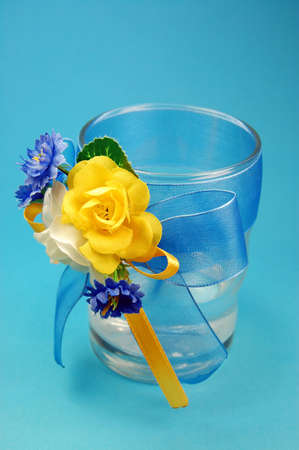 glasses with flowers Stock Photo