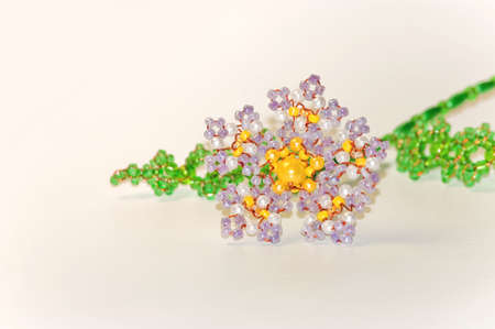 flowers of beads isolated on white background Stock Photo
