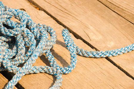 boat rope on the brown background