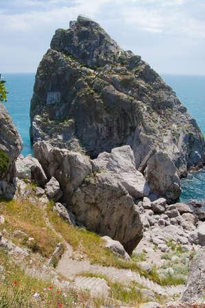 rock and beach in Simeiz